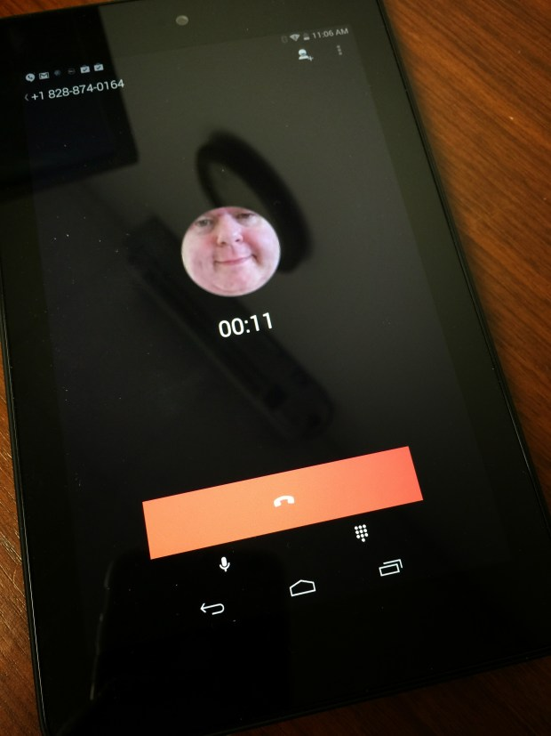 hangouts dialer call screen