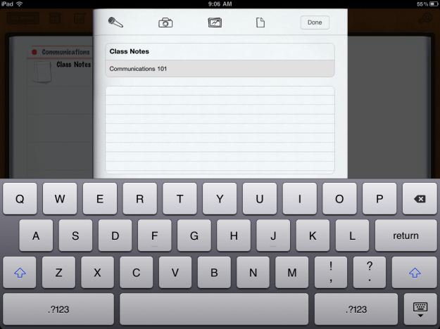 inClass Lets You Type Notes and Record Audio, Video or Photos