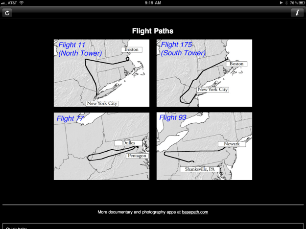 9/11 Flight Paths of Four Planes Used