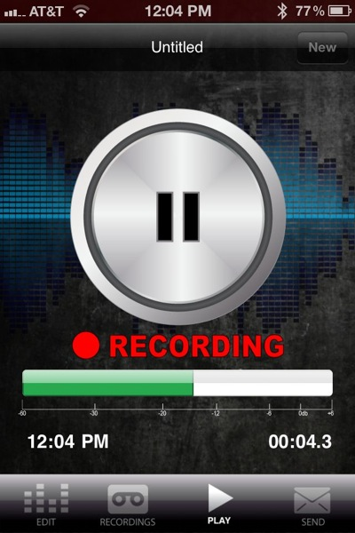 iaudition recording