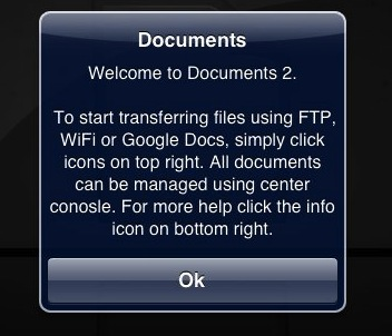 Typo in Welcome Dialog Box