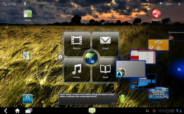 IdeaPad K1 App Wheel