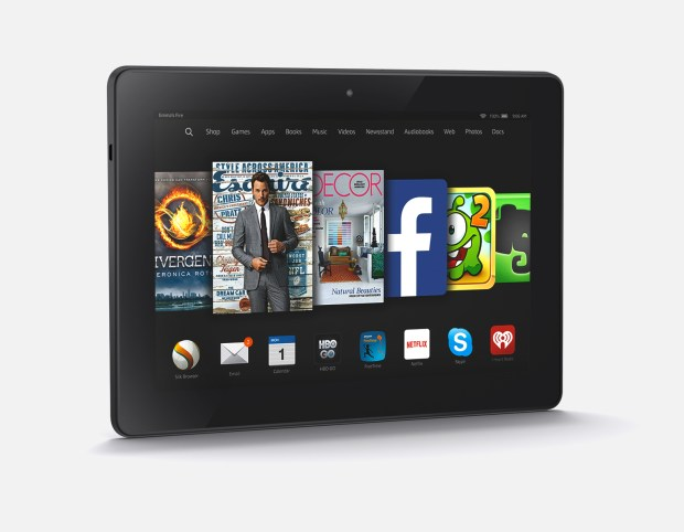 You can connect the Amazon Fire HDX and Amazon Fire to your HDTV and your data syncs great even to iPhone or Android.