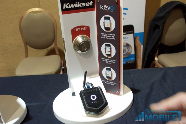 The Kevo Plus connects a Kevo to WiFi for remote control.