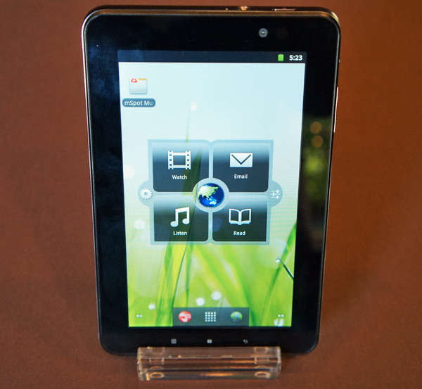 Lenovo 7 inch tablet front