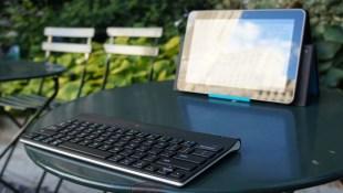 Logitech Tablet Keyboard Outdoor Shot
