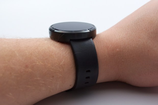 The Moto 360 is not tiny, but it isn't too big for most users.