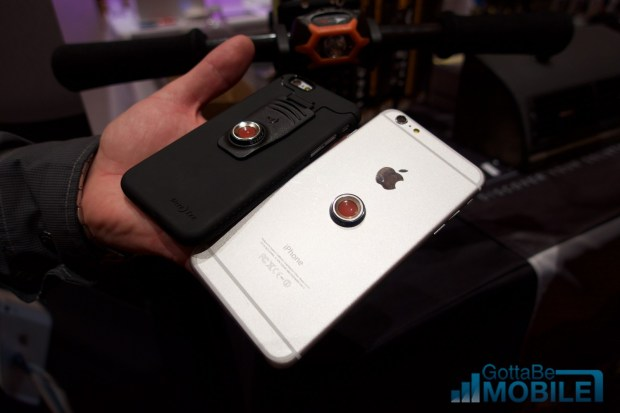 You can buy a case, or stick the mount on the back of almost any phone.