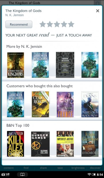 Nook Tablet Book Recommendations