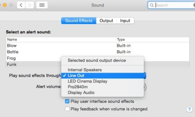 Reset SMC and PRAM and then toggle the sound settings.