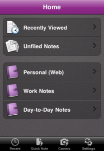 OneNote for the iOS allows users to sync different notes to a wide range of devices for free.