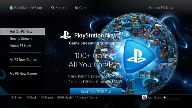 Use PS Now to rent games digitally on the PS4.