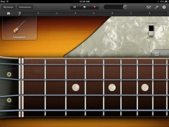 Guitar from GarageBand for iPad