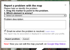 Report a Problem with Google Maps