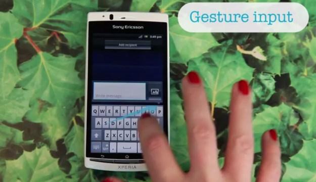 Sony Gesture Typing