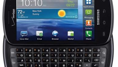 Samsung Stratosphere keyboard
