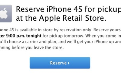 Reserve an iPhone 4S at your Apple Store