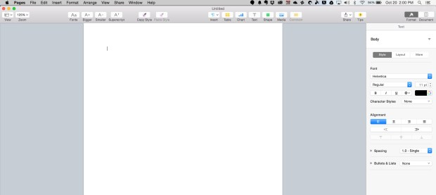 pages in iwork