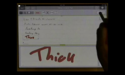 Dan Bricklin demos Note Taker HD