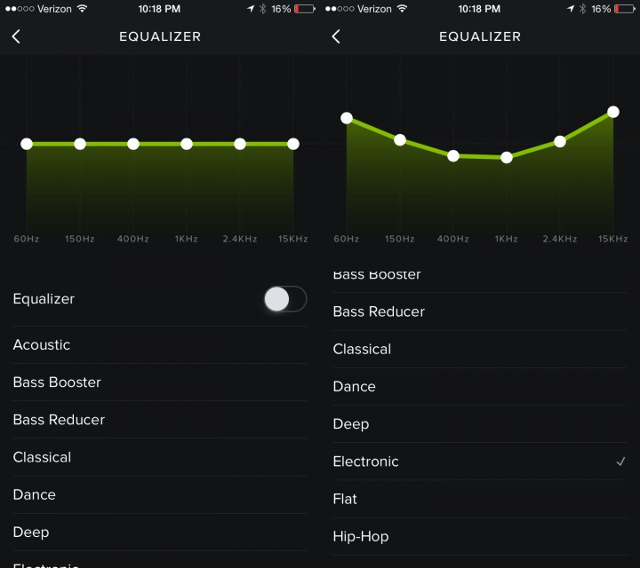 Use the Spotify equalizer to make your music sound better.