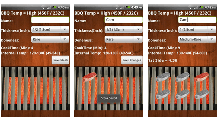 Steak Timer Plus - Android Grilling App