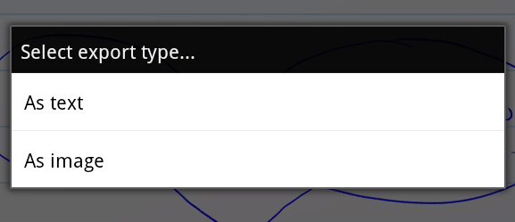 MyScript Notes Mobile Export As