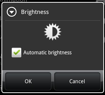 Thunderbolt battery brightness