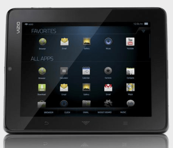 Vizio Android Tablet display