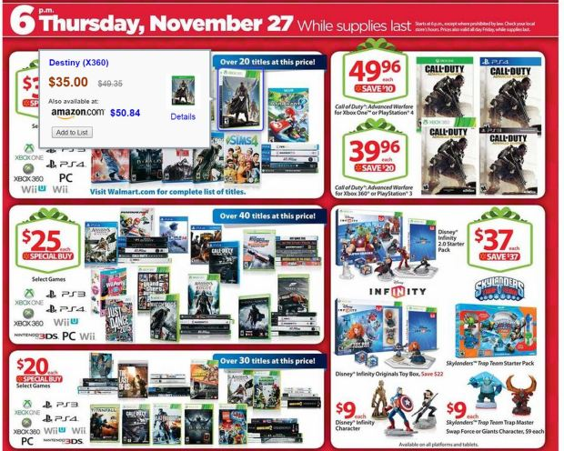 Walmart Black Friday Games
