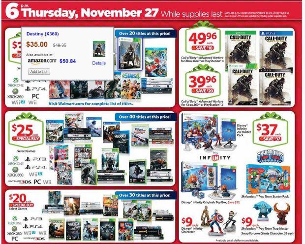 Walmart Black Friday Games
