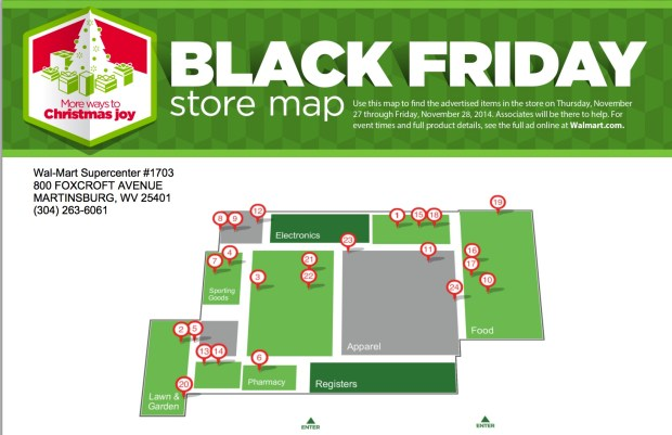 Use the Walmart Black Friday map to find where the best Walmart Black Friday deals are.