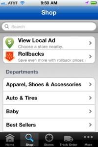 Walmart iPhone app