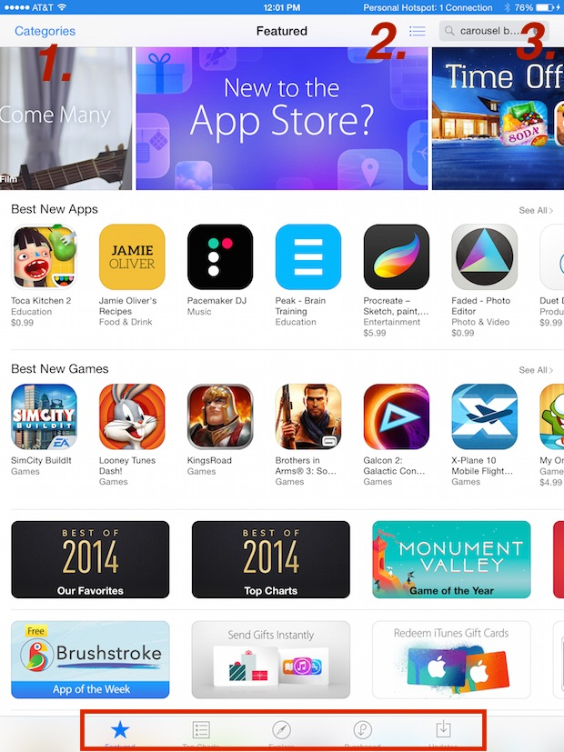 app store interface