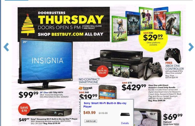 best buy xbox one black friday ad