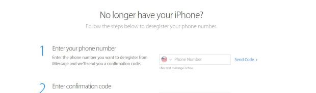 deregister imessage