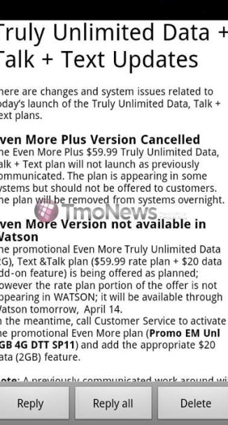 T-Mobile Cancels Even More Plus