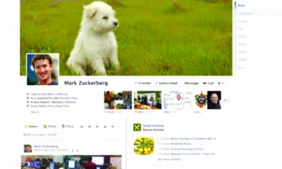 Facebook Timeline profile