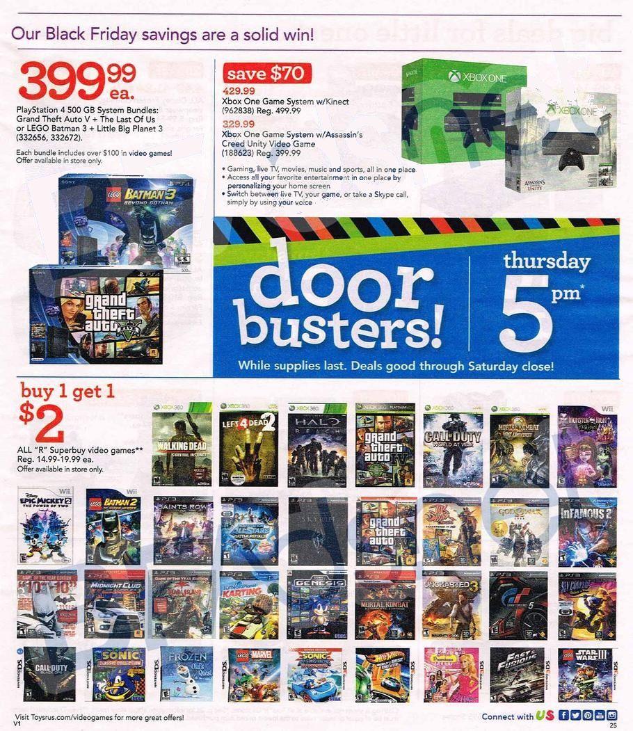 329 Xbox One Skylanders Among Toys R Us Black Friday 2014 Deals - Toys-r-us-black-friday-store-map