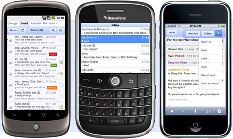 Gmail App for BlackBerry