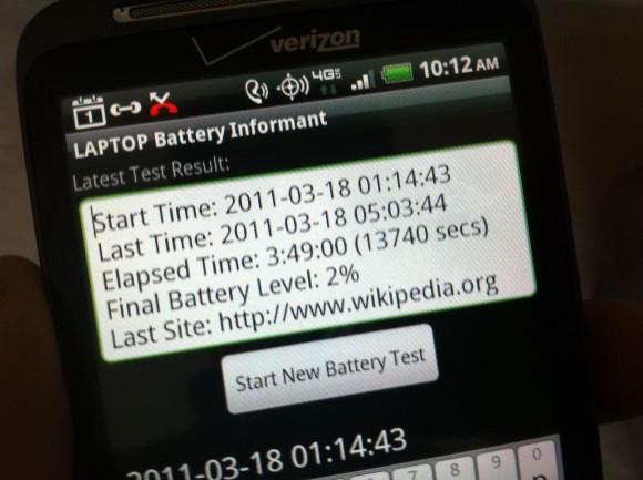 Thunderbolt Verizon HTC Battery Life