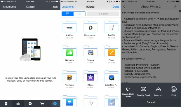 Use this instead of an official iCloud Drive app for iPhone.