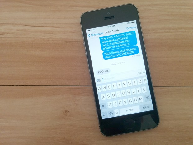 iMessage copy