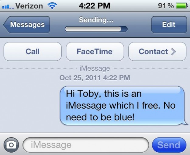 how to change from imessage to text message on iphone