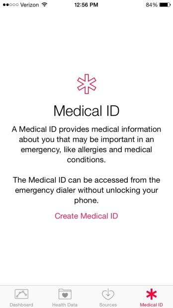 iOS 8 Health Medical ID