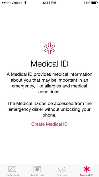 iOS 8 Health Medical ID