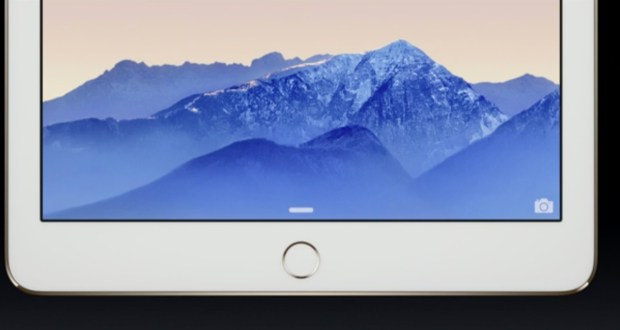 The iPad Air 2's TouchID fingerprint reader.