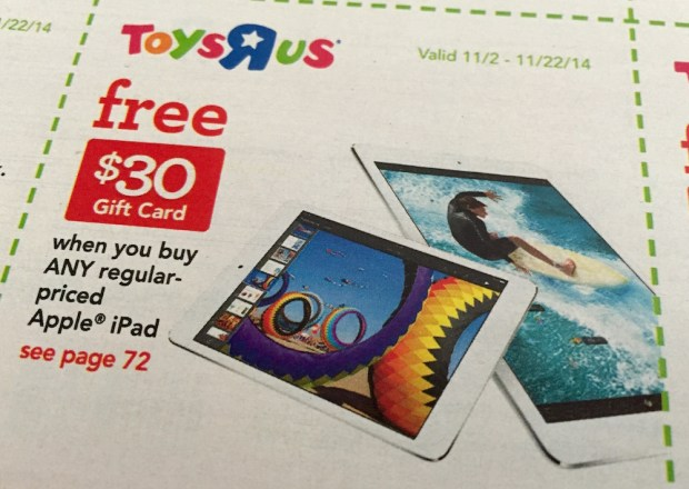 iPad Air 2 deal at Toys R Us.