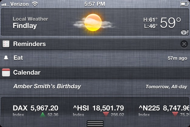 iPhone 4S Notification Center