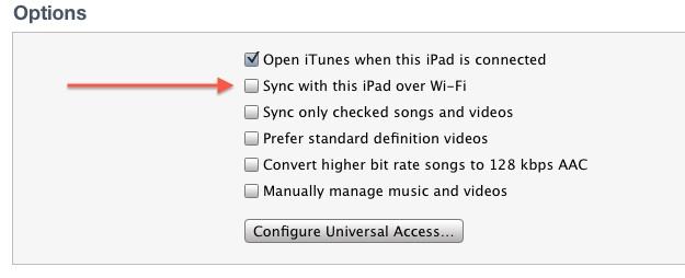 iPhone 4S Setup WiFi Sync