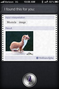 iPhone 4S commercial Siri Weasel